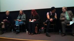 """The Real Within the Unreal"" panel at Columbia College Chicago Storyweek Festival of Writers, with Mort Castle, Phyllis Eisenstein, Audrey Niffenegger, and Jay Bonansinga."